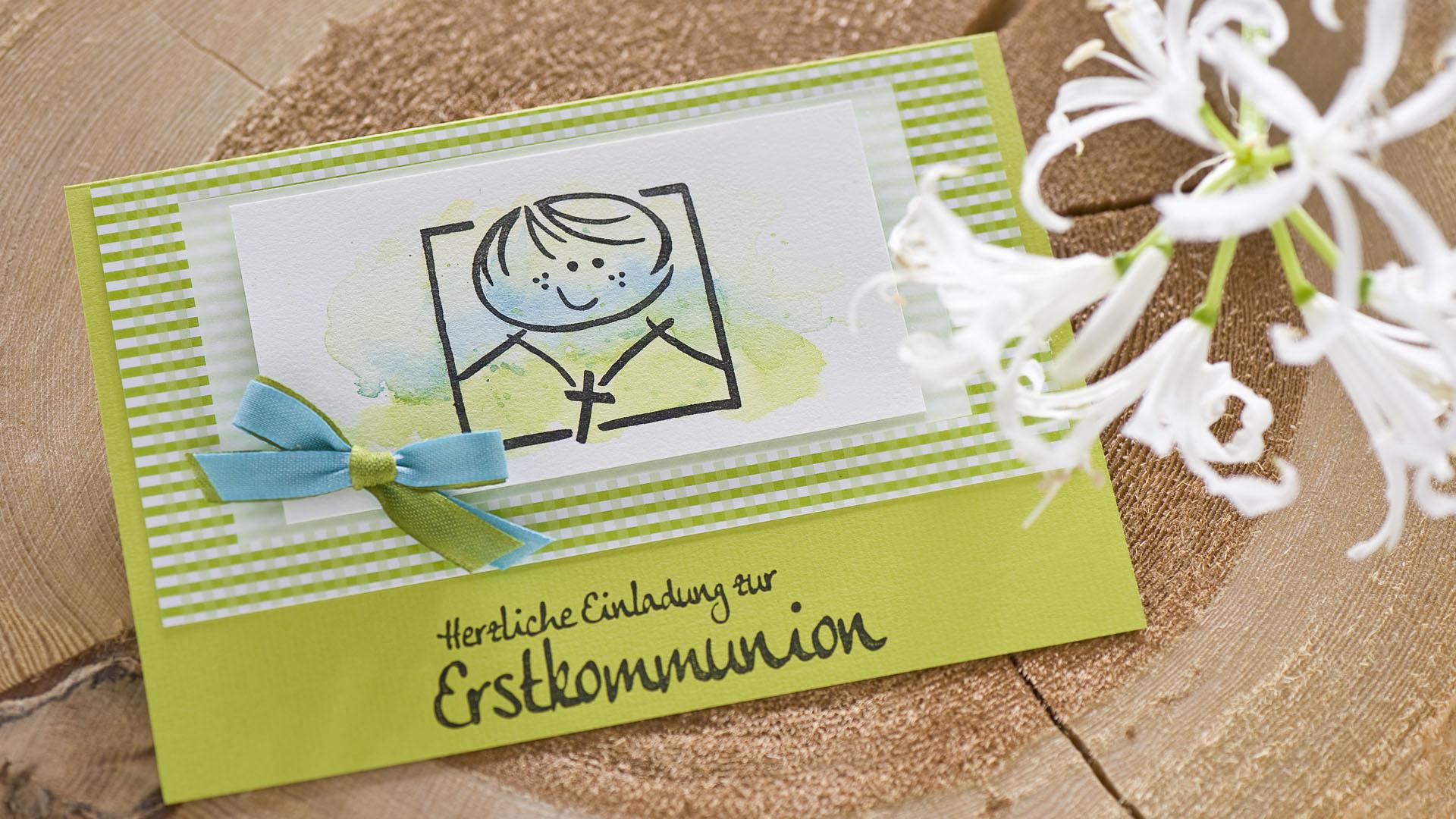 Ideen für die Kommunion: Herzliche Einladung