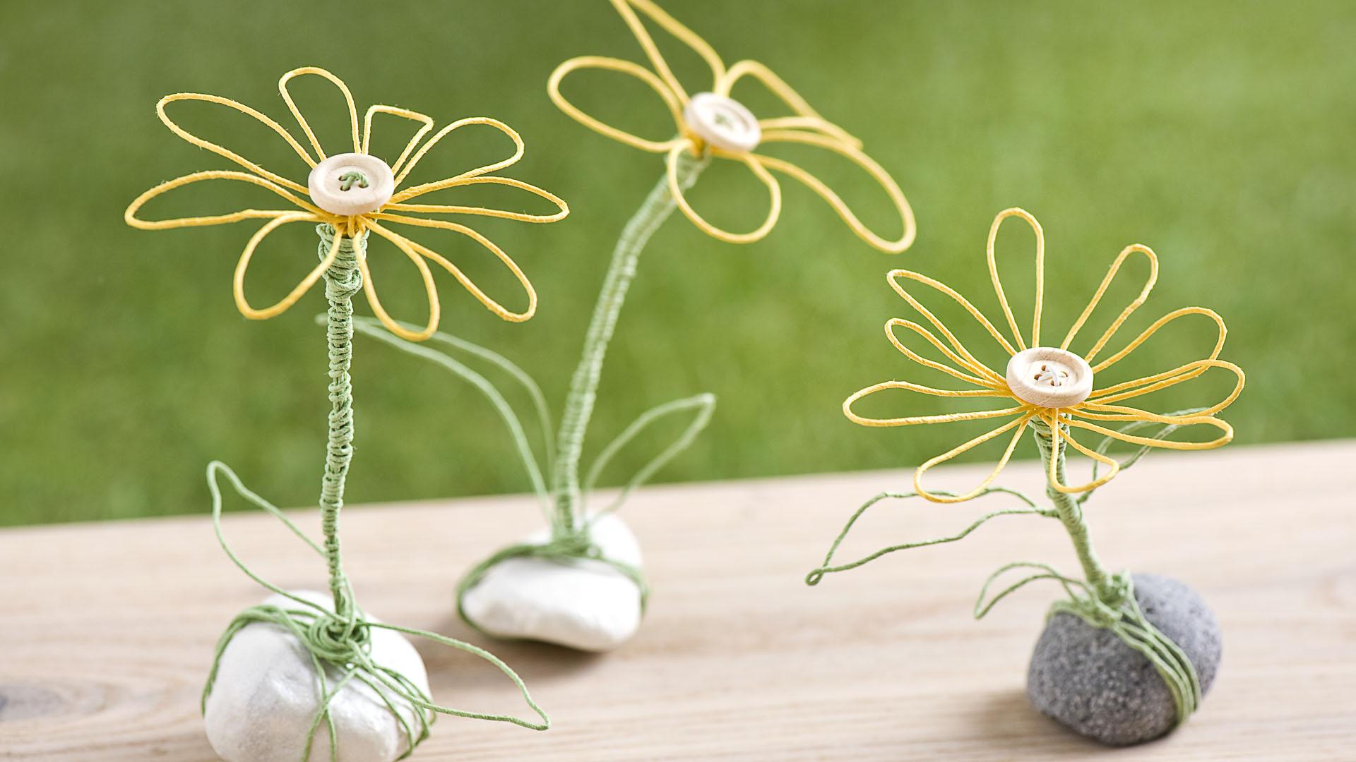 Ideen für Papierdraht: Dotterblumen