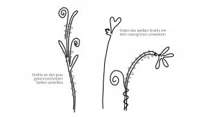 Ideen für Papierdraht: Frühblüher | Vorlage zum Ausdrucken