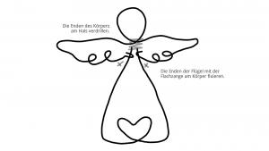 Ideen für Papierdraht: Schutzengel | Vorlage zum Ausdrucken