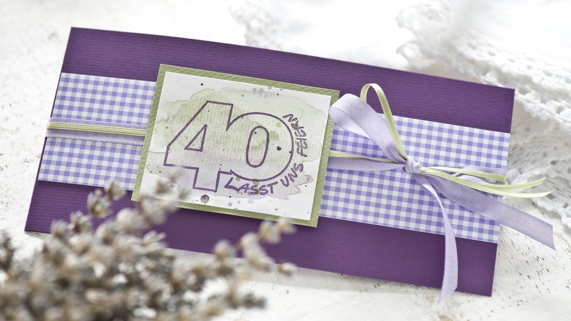 Ideen für besondere Geburtstage: Vierzig! | Einladung