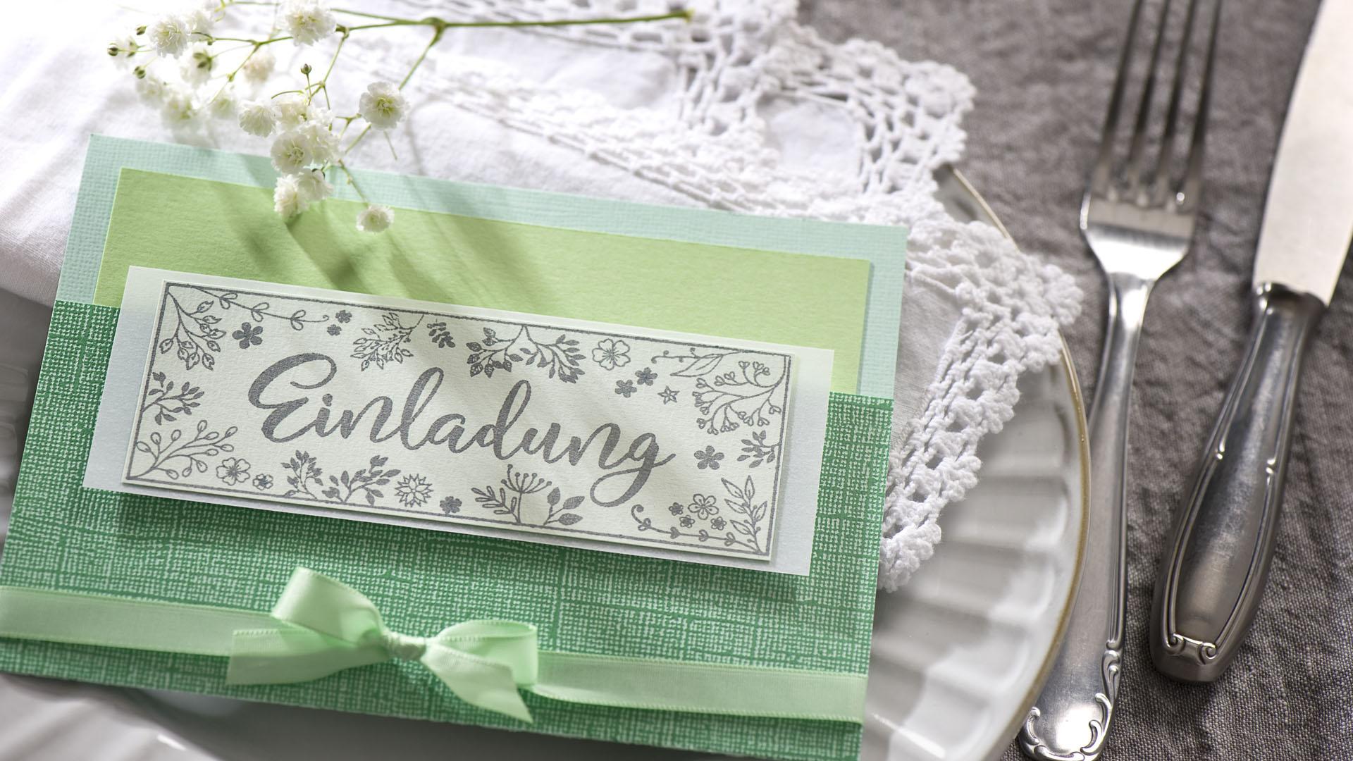 Ideen für besondere Geburtstage: Frisches Grün | Einladung