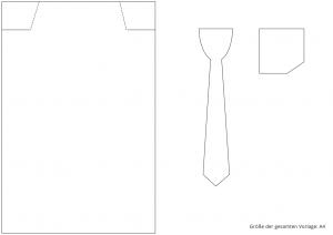 Ideen für besondere Geburtstage: Vom Herrenausstatter | Vorlage für Hemd, Krawatte und Tasche