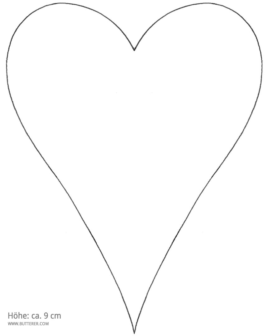 Herz Vorlage Zum Ausdrucken Pdf Kribbelbunt 14
