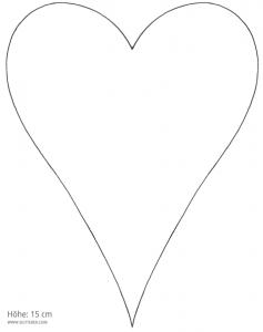 Ideen für Hochzeiten: Gesucht und gefunden | Vorlage für das Herz auf der Menükarte und auf dem Kirchenheft