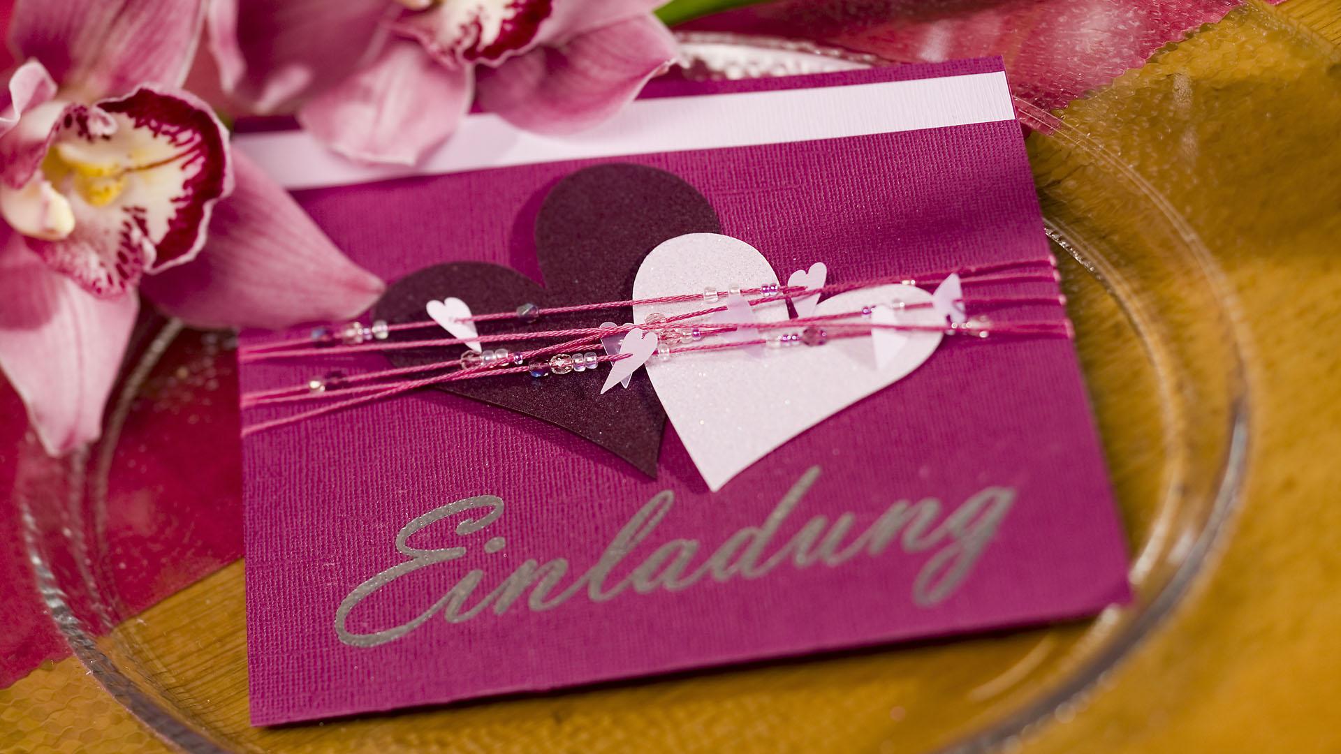 Ideen für Hochzeiten: Heartbeat | Einladung