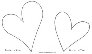 Ideen für Hochzeiten: Heartbeat | Vorlage für die Herzen