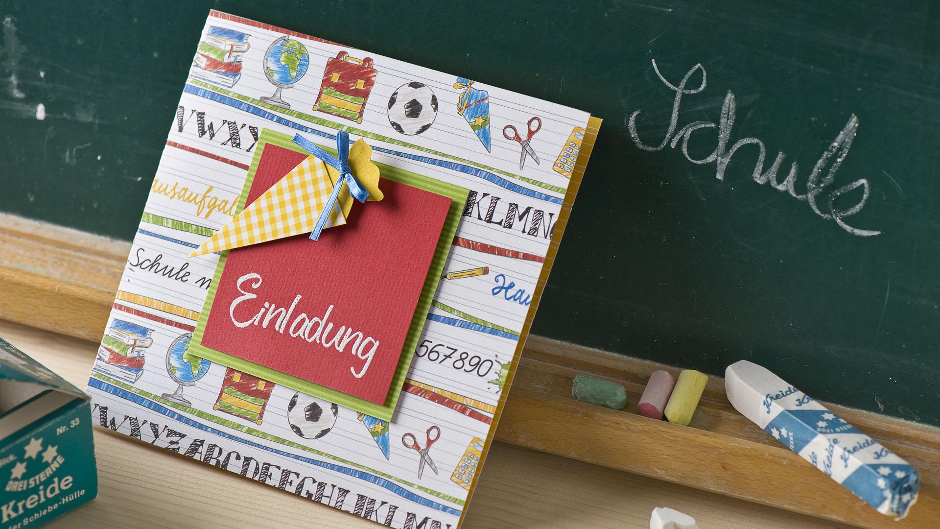 Ideen für den Schulanfang: Einladung zur Einschulung