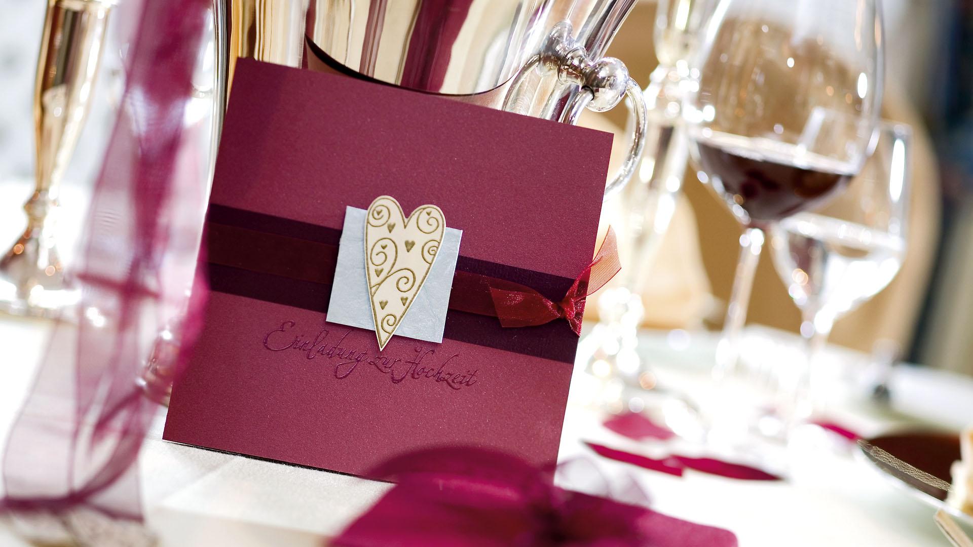 Ideen für Hochzeiten: Romantisch | Einladungskarte