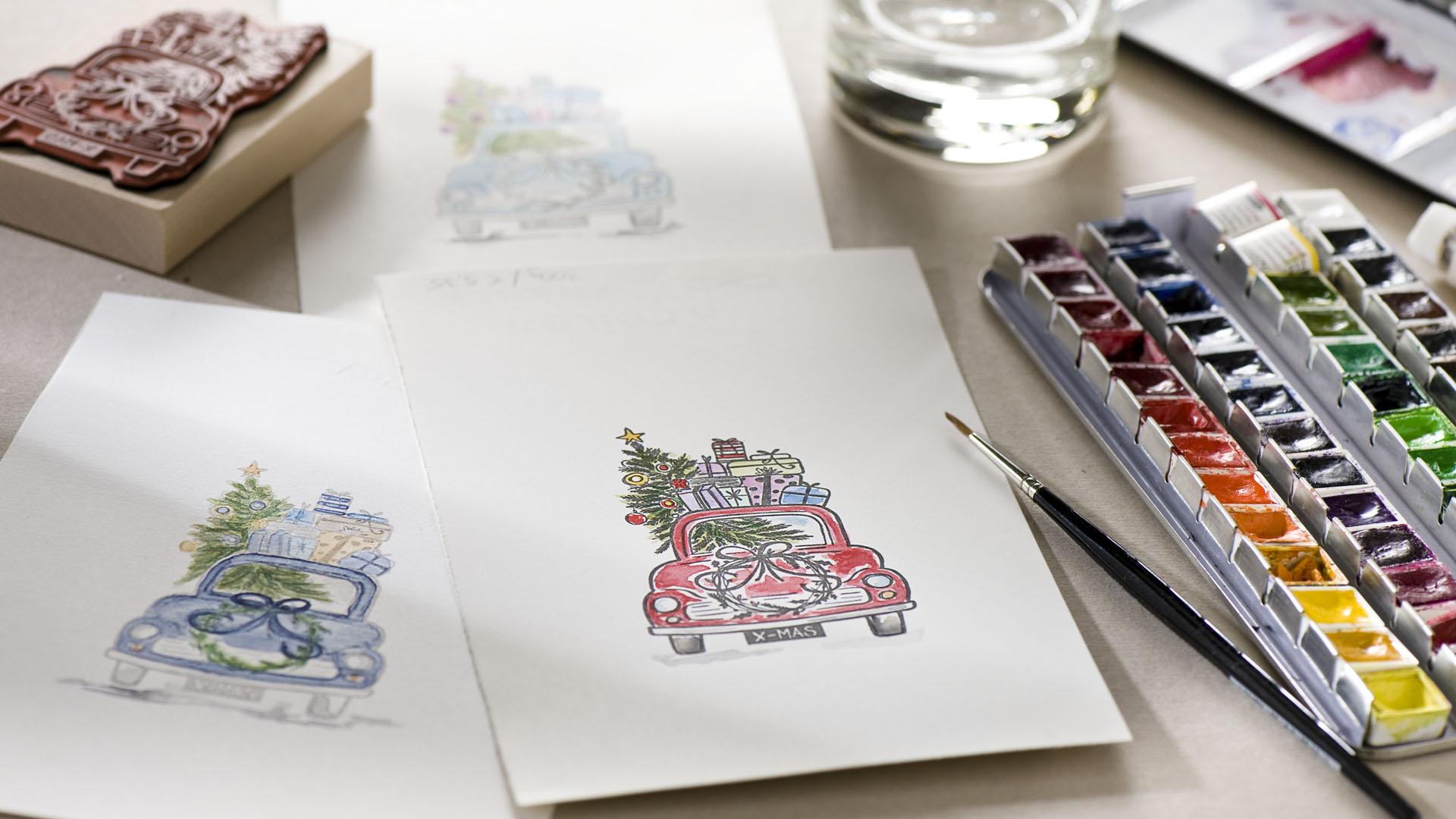 Ideen für die Weihnachtspost: Driving home for christmas