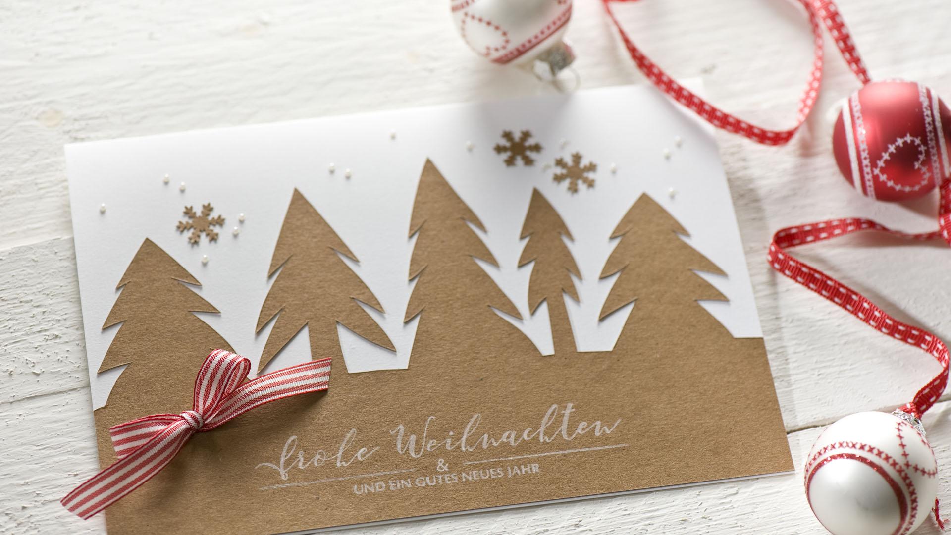 Ideen für die Weihnachtspost: Winterwald