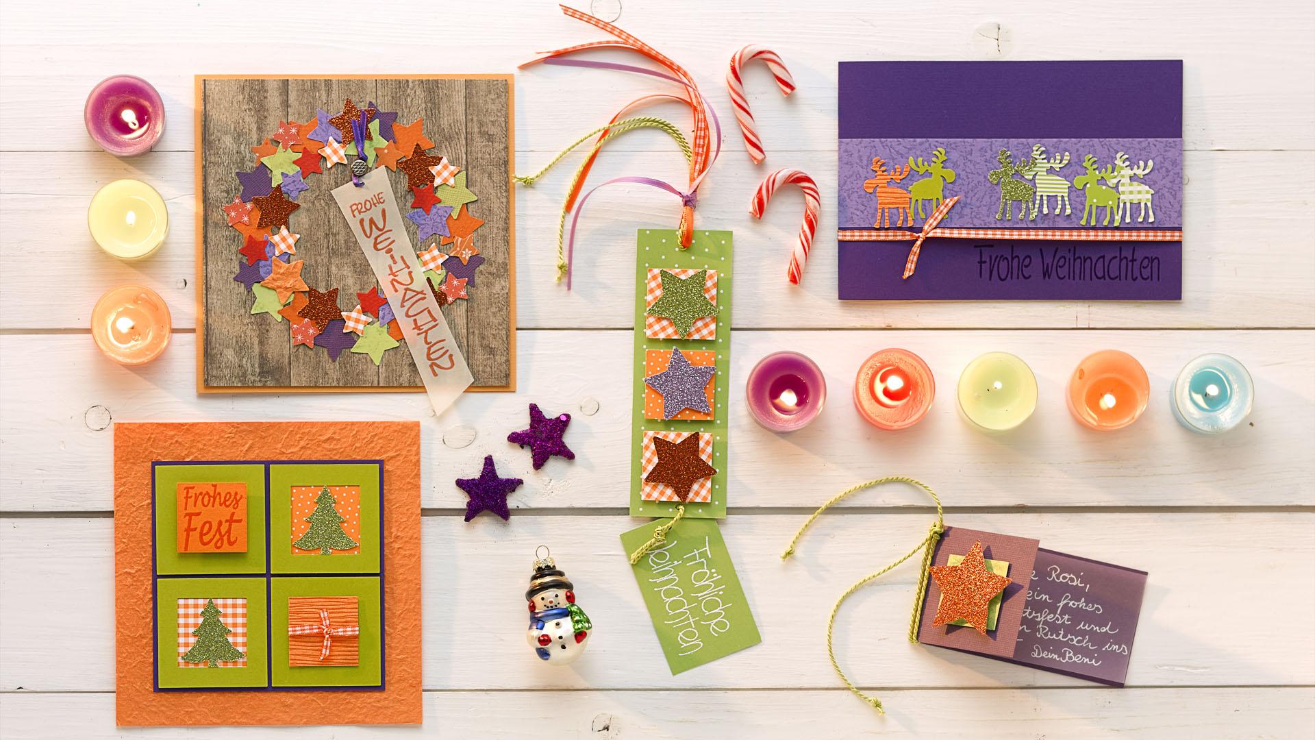 Ideen für die Weihnachtspost: Kunterbunte Weihnachtszeit