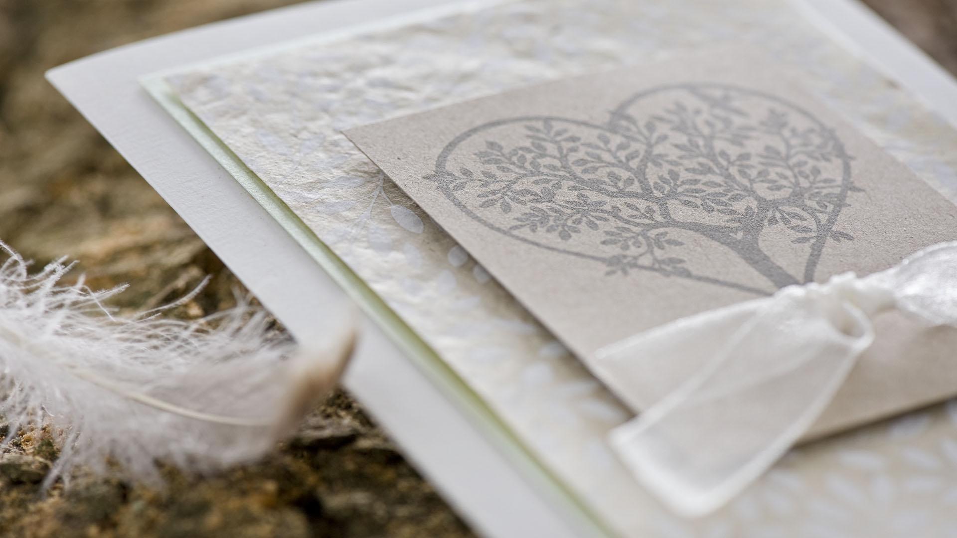 Ideen für Hochzeiten: Baum der Liebe   Einladung und Glückwunschkarte
