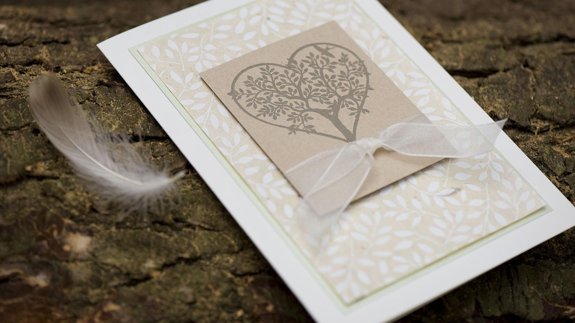 Ideen für Hochzeiten: Baum der Liebe | Einladung und Glückwunschkarte