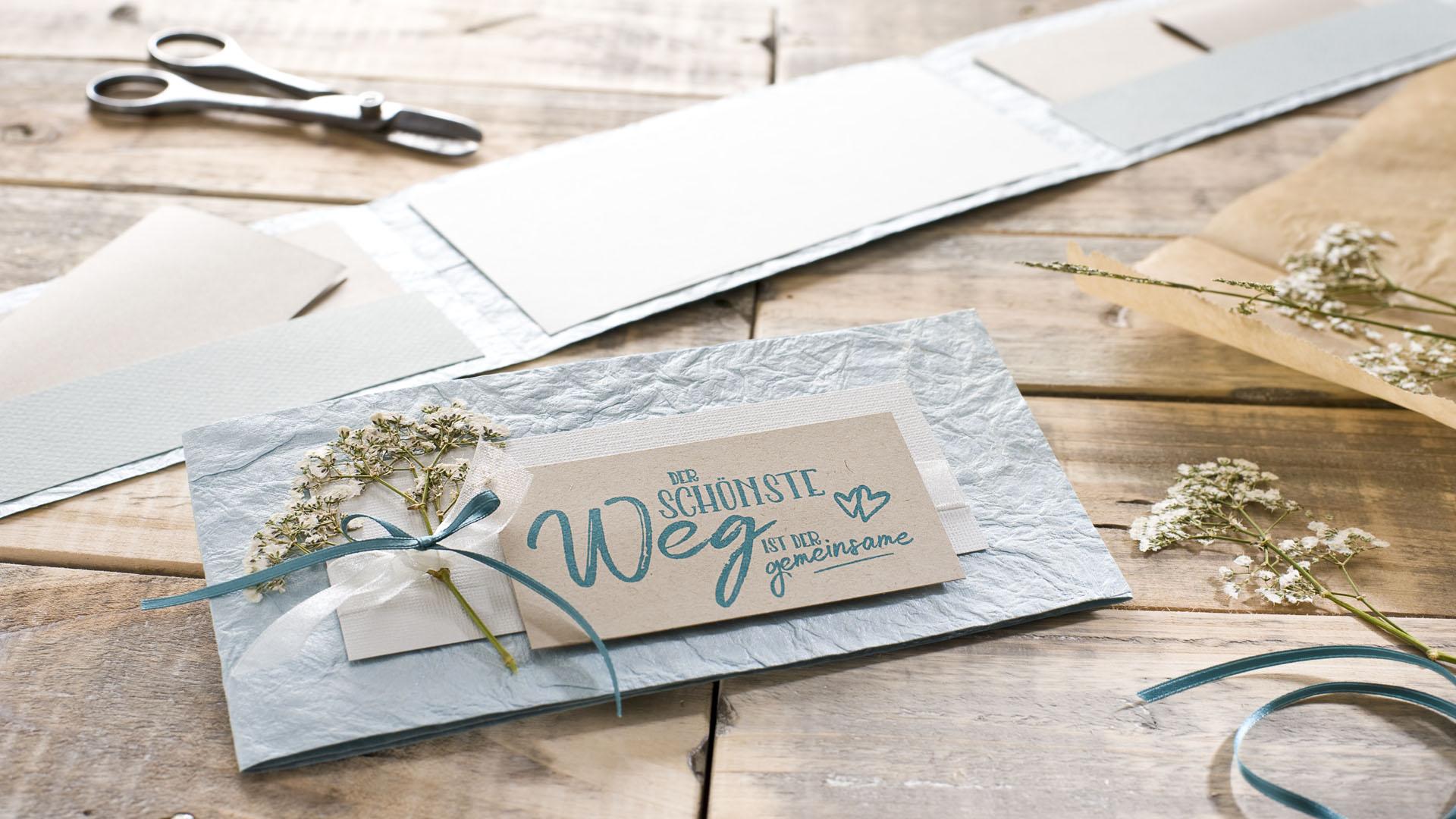 Ideen für Hochzeiten: Der schönste Weg ist der gemeinsame | Einladung