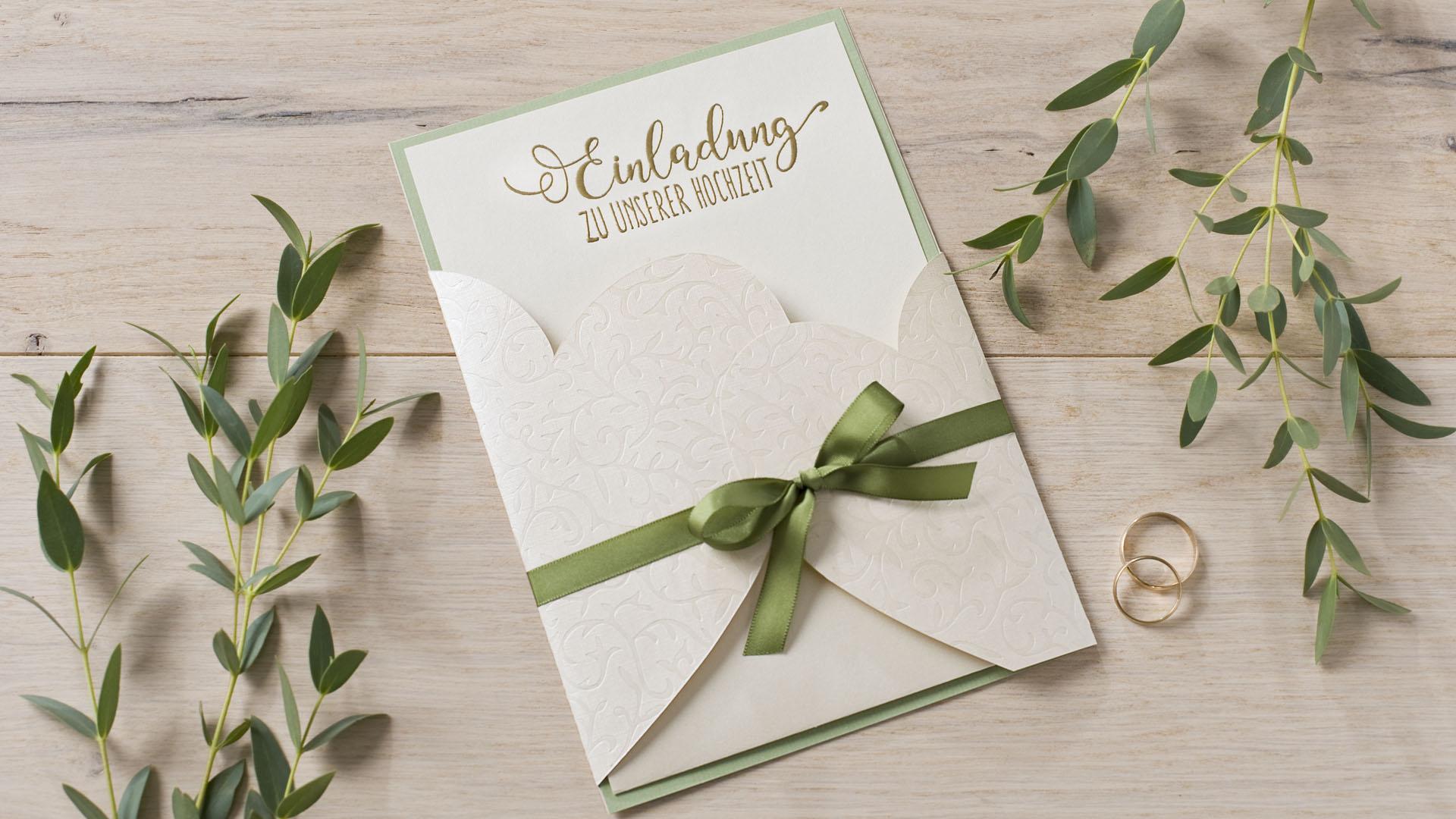 Ideen für Hochzeiten: In Liebe verbunden | Einladung