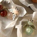 Ideen für Weihnachten: Edle Schutzengel   Glücksbringer aus Halbedelsteinen mit Flügeln aus Metall