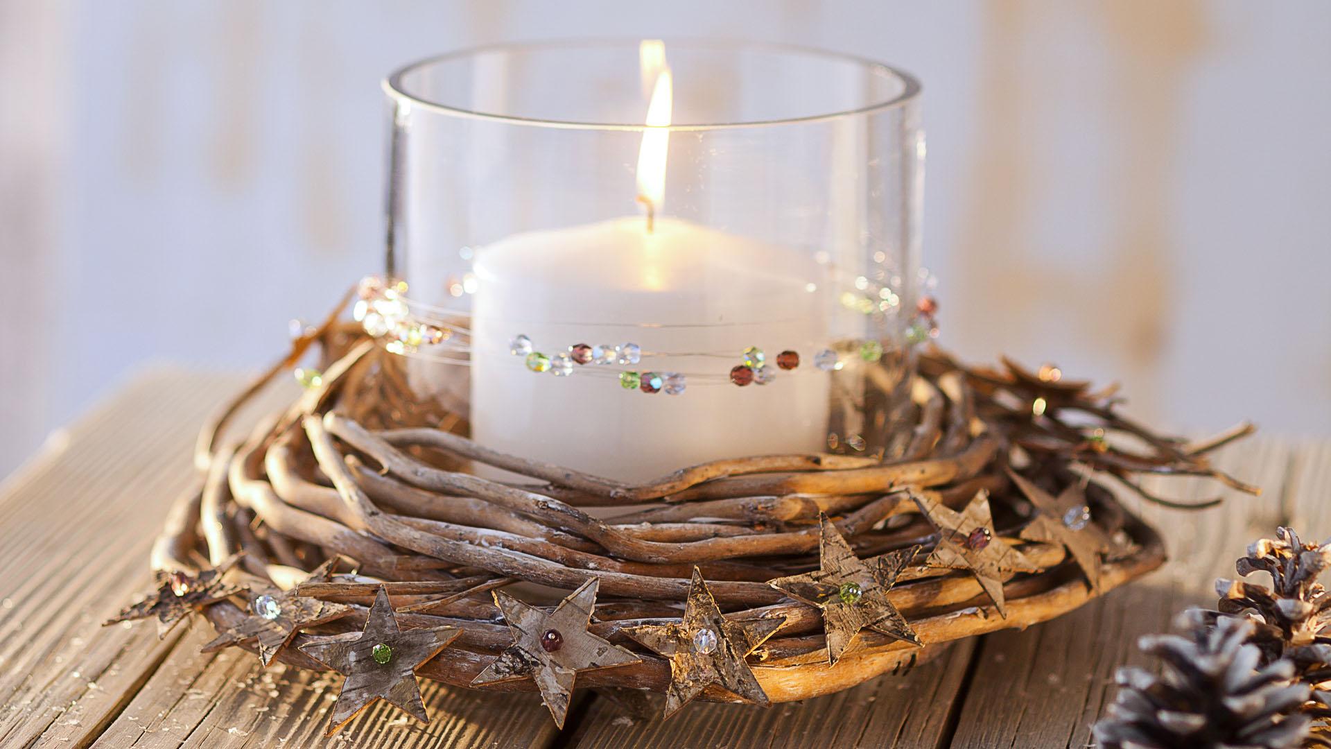 Ideen für Weihnachten: Winterliches Windlicht