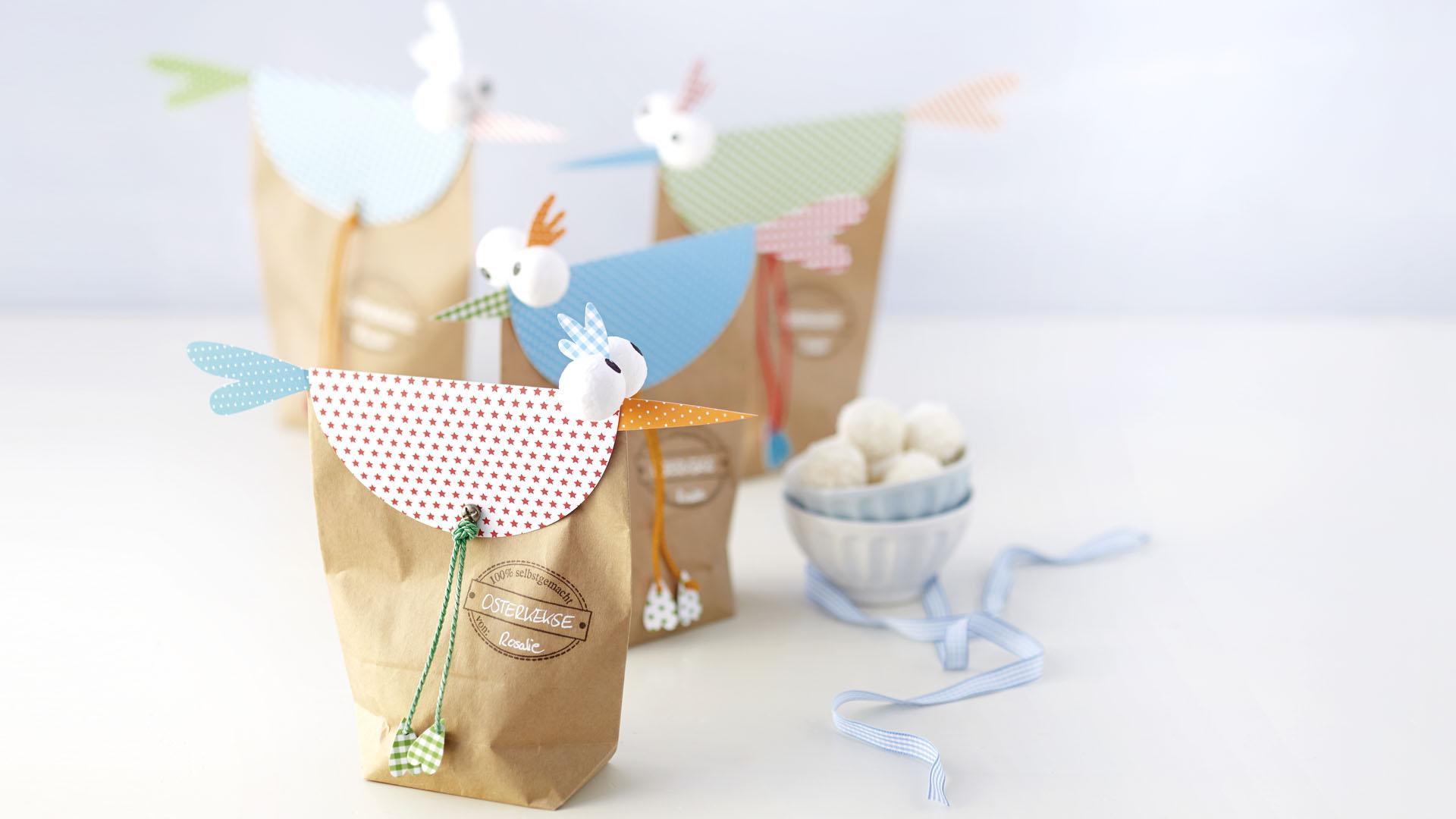 Ideen für den Frühling: Osterglück in Tüten | Fröhliche Verpackung für süße Geschenke