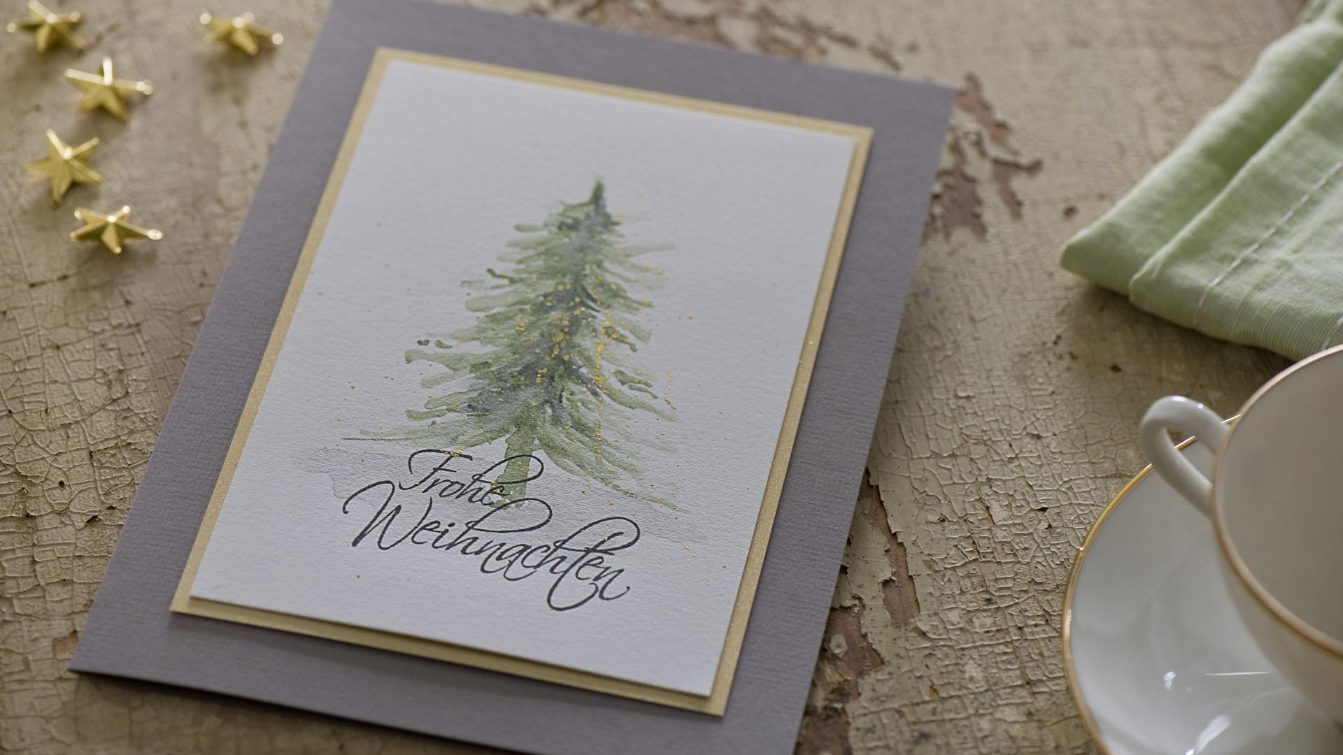 Ideen für die Weihnachtspost: Oh Tannenbaum