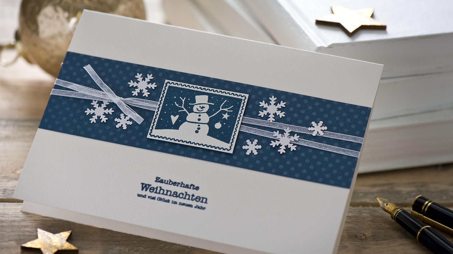 Ideen für die Weihnachtspost: Mit Post-Wert-Zeichen