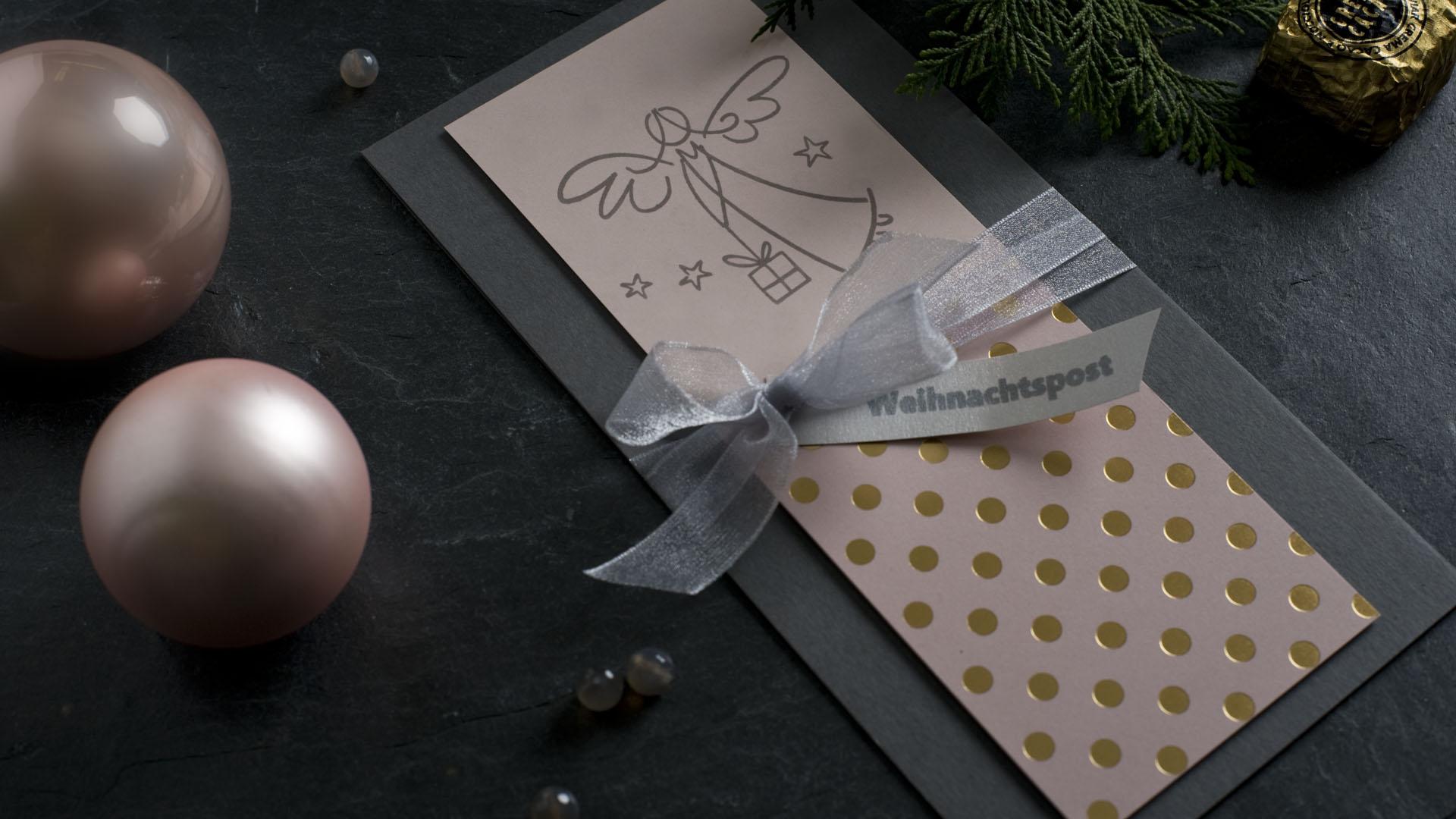 Ideen für die Weihnachtspost: Himmlischer Paketbote