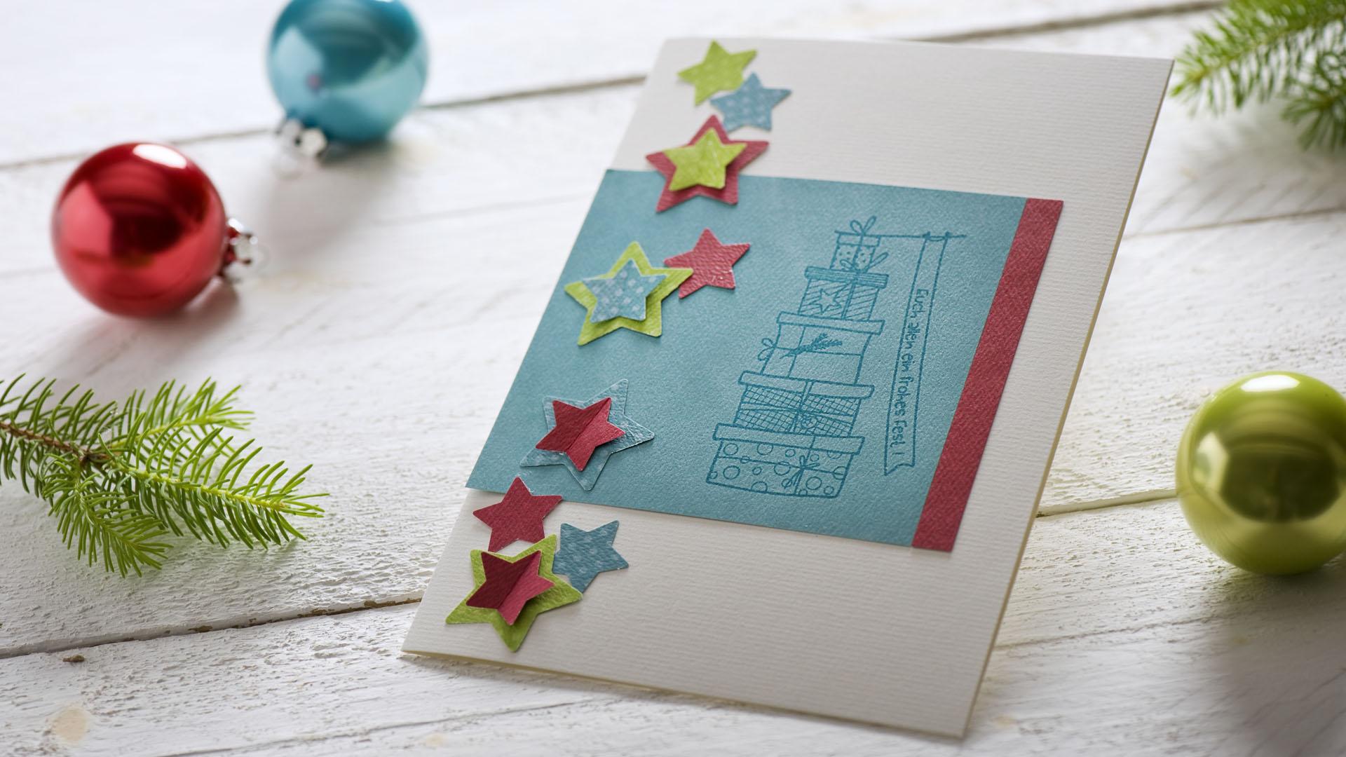 Ideen für die Weihnachtspost: Sternschnuppen