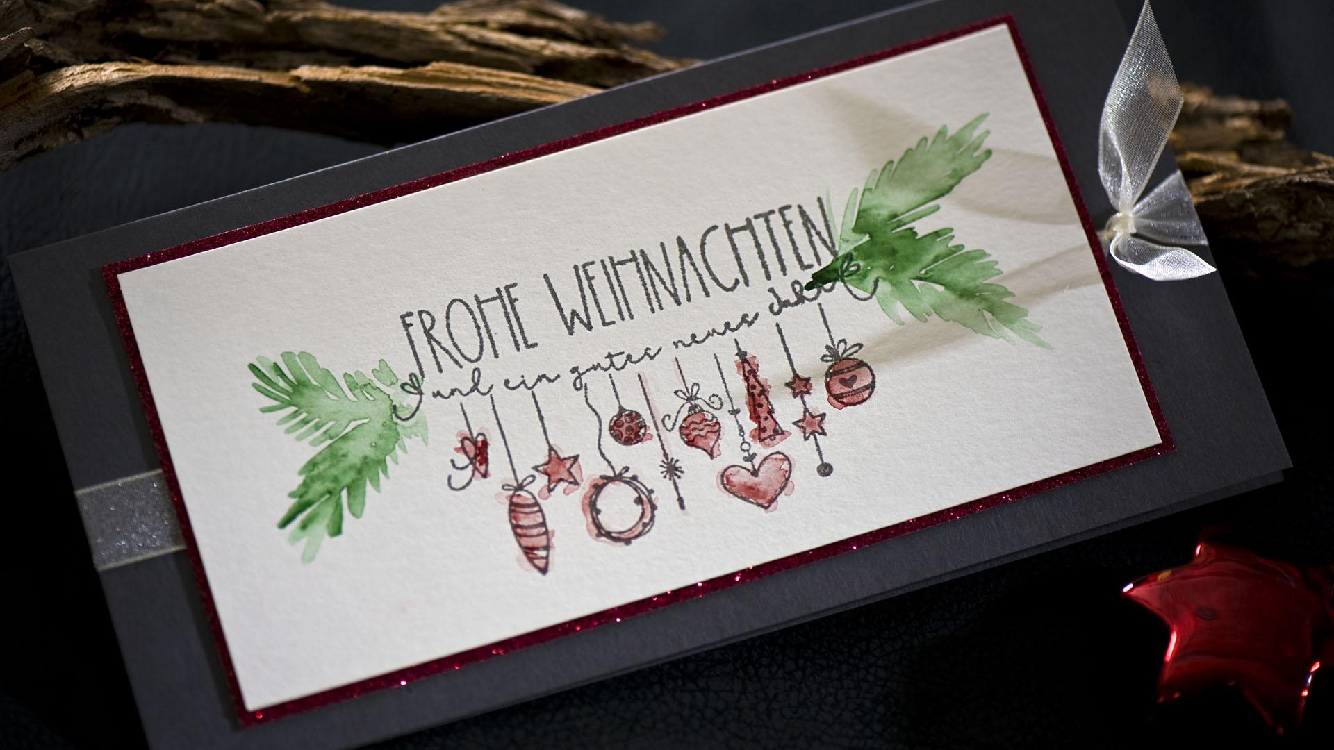 Ideen für die Weihnachtpost: Frohe Weihnachten