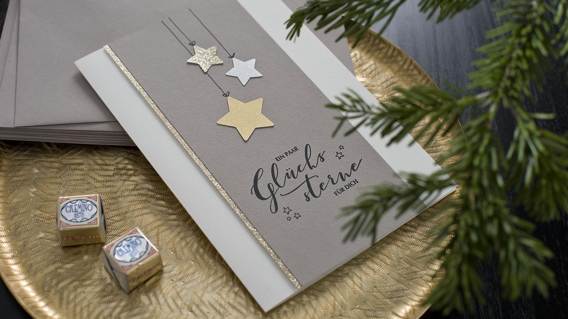 Ideen für die Weihnachtspost: Sternenglanz