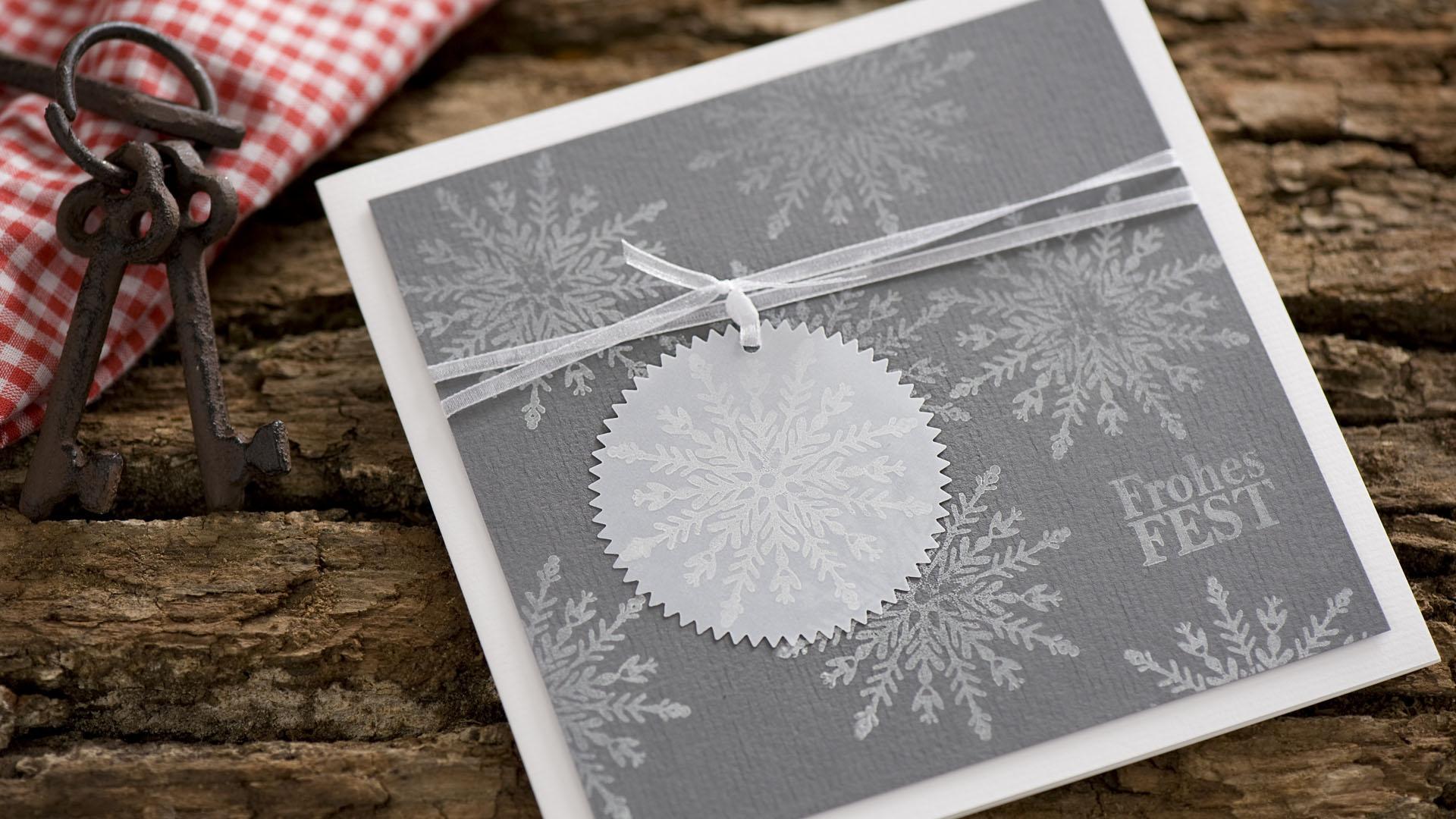 Ideen für die Weihnachtspost: Schneevergnügen