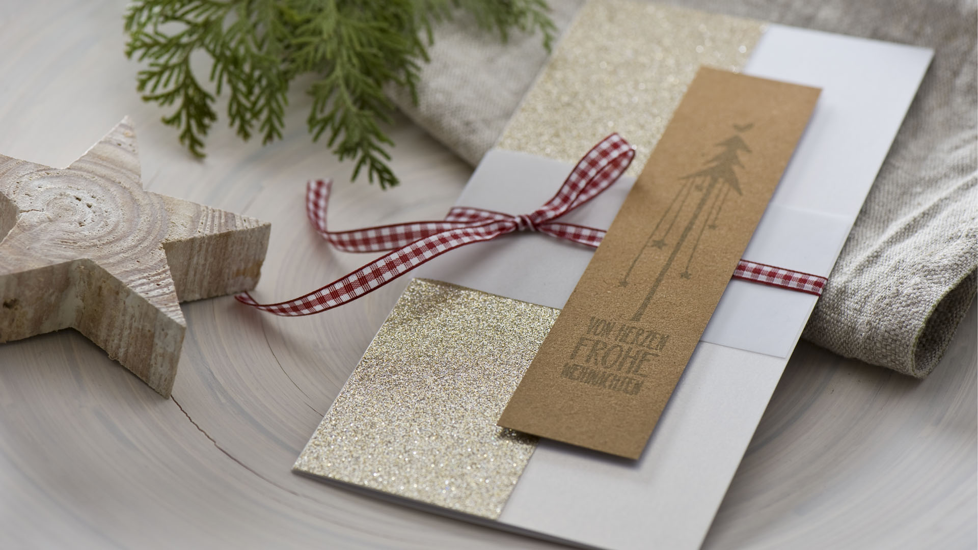 Ideen für die Weihnachtpost: Von Herzen