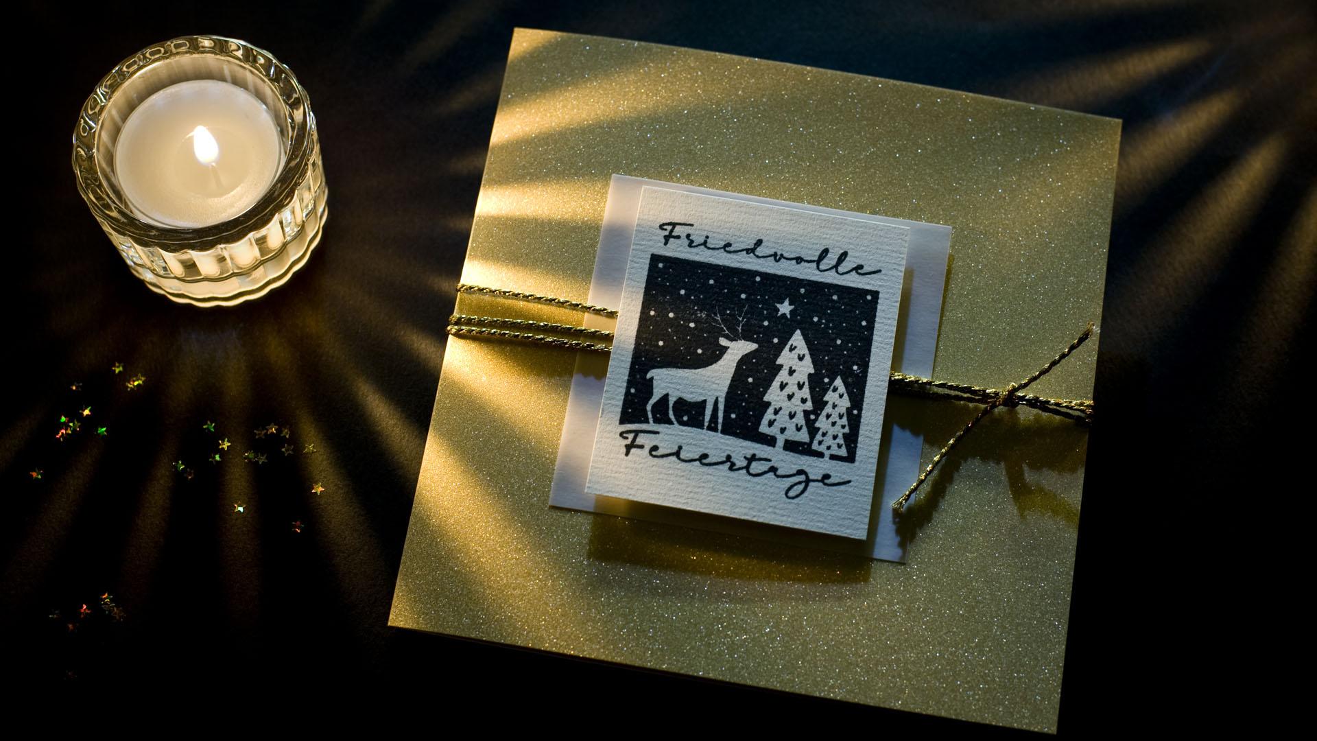 Ideen für die Weihnachtspost: Friedvolle Feiertage