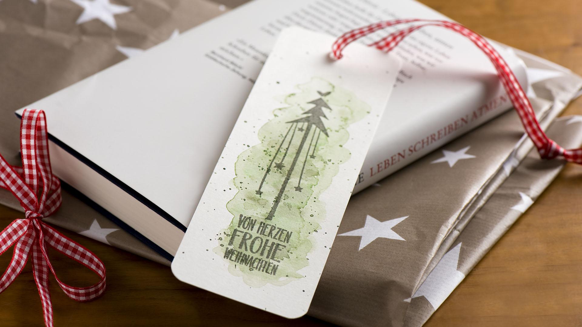 Ideen für die Weihnachtspost: Für Buchliebhaber